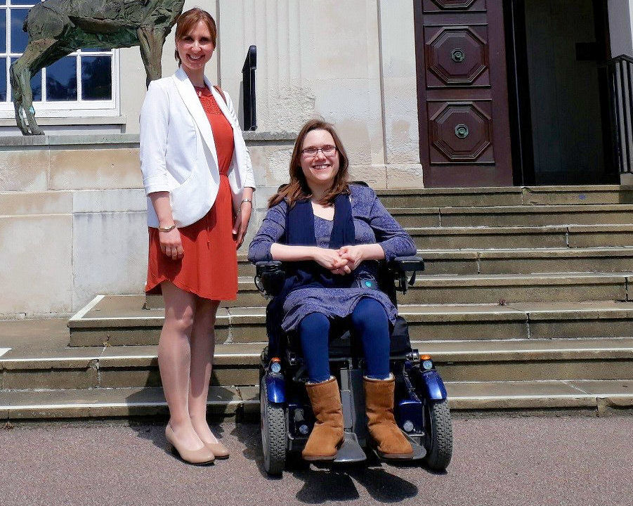 Anna Denham our Research and Engagement Officer and Bethany Young, Champion for I Can Make It in Hertfordshire