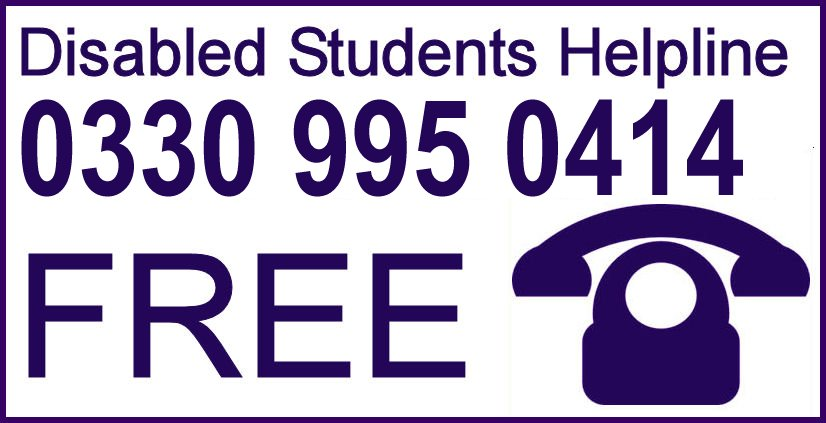 Disabled Students Helpline - 0330 995 0414