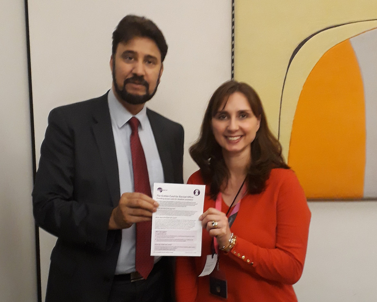 Afzal Khan, MP with Anna Denham, DR UK, at EnAble launch at Portcullis House on International Day of Persons with Disabilities.