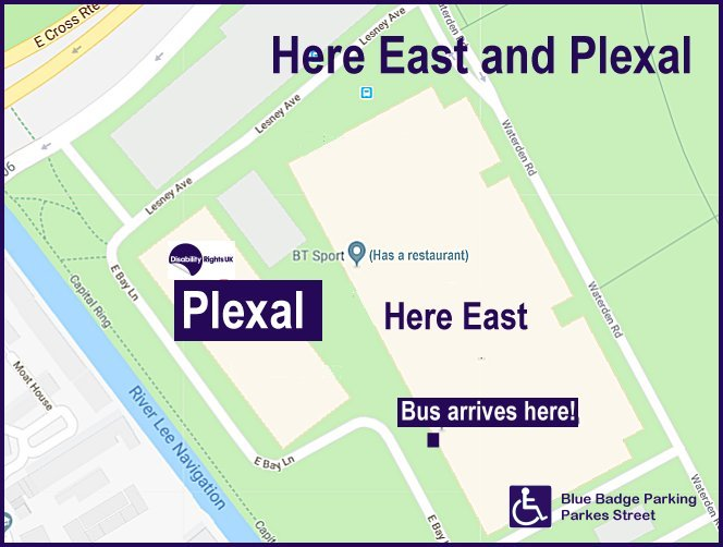 Map of Here East and Plexal