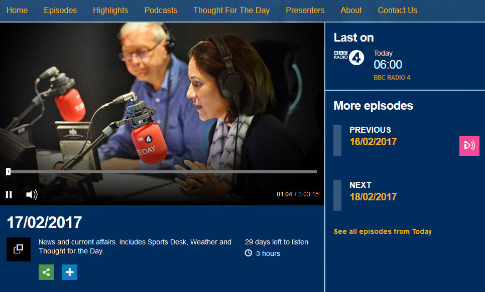 BBC Today Programme