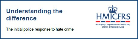 Understanding difference: the police's initial response to hate crime.