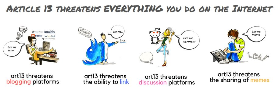 Article 13 threatens everything you do on the internet - copyright #SaveYourInternet