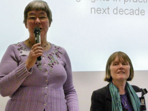 Sue Bott speaking at conference