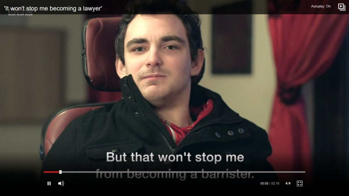 Daniel Holt - Disability won't stop me becoming a barrister