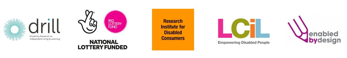 DRILL, Big Lottery Fund, Research Institute for Disabled Consumers, LCiL and Enabled by Design