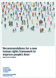 Recommendations for a new human rights framework to improve people's lives'.