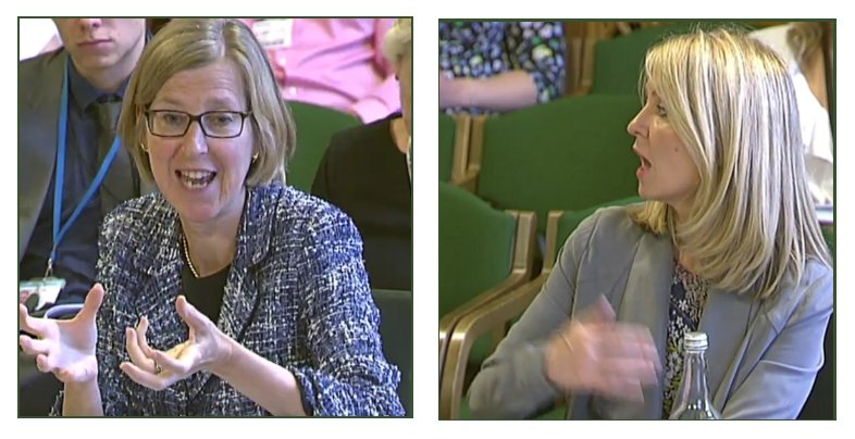Sarah Newton MP, Minister of State for Disabled People and Esther McVey MP, Secretary of State for Work and Pensions