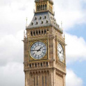 Close up of clockface (Big Ben), Queen Elizabeth Tower, Westminster