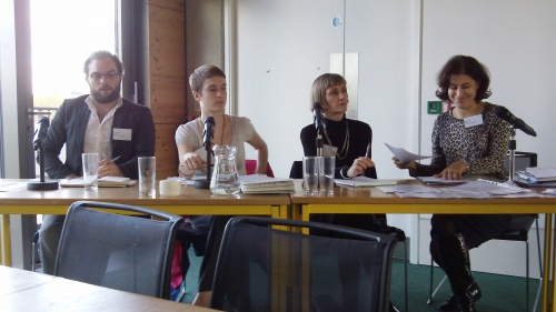 Panel members - Richard Hawkins, Common Cause,  Alana Avery, Project Manager at On Road Media, Fiona Bawden, freelance journalist and Natasha Walter, journalist and founder of Women for Refugee Women