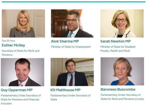 Current DWP ministers