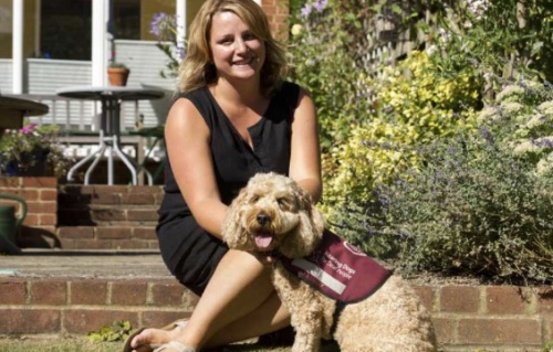 Sophie and assistance dog Rusty