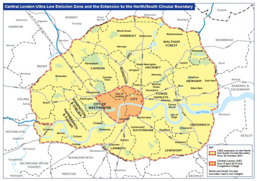 From 25 October 2021 the area will expand to the inner London area bounded by the North and South Circular roads.