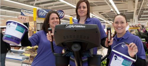 Laura, Hannah and Becky collecting donations at Tesco