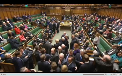 The vote against the Lords amendments