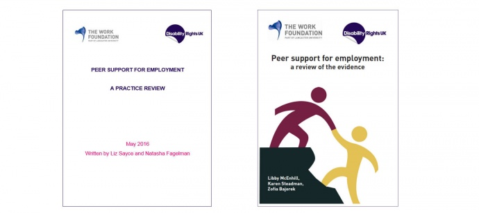 Peer support for employment